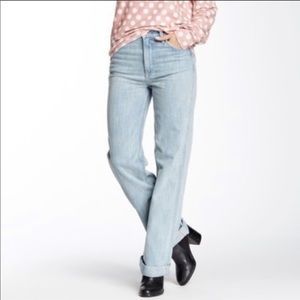 NEW Wildfox Women's High Rise Straight Luca Jeans